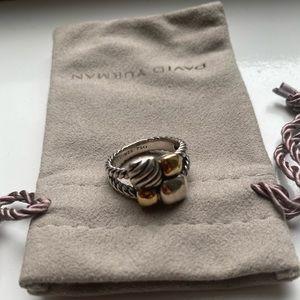 David Yurman Silver & Gold Ring